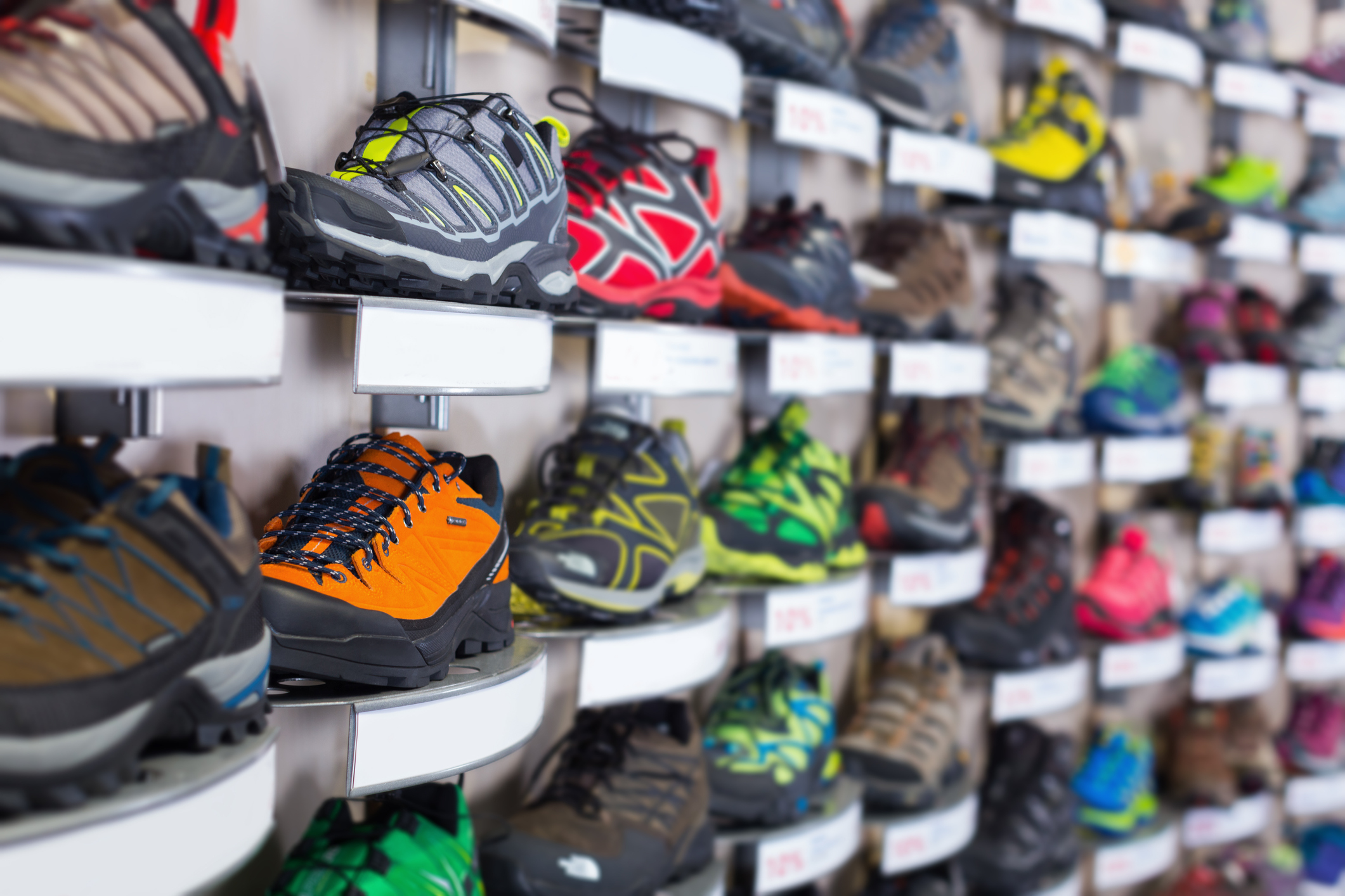 shoes in a sports store