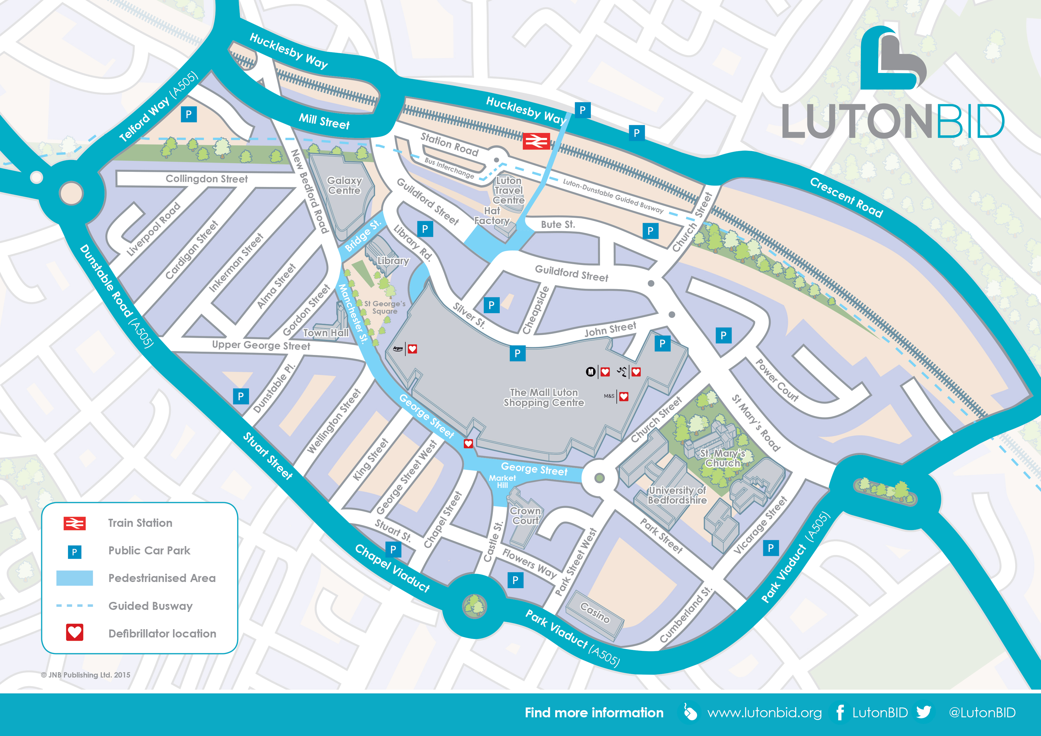 Map Of Luton Map